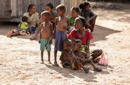 Elders and children suffer the most from the food insecurity in Ambovombe, Madagascar, June 12, 2021, since they do not have anything else than cactus leaves to eat. (Courtesy Image: WFP/Tsiory Andriantsoarana)