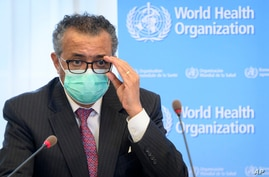 FILE - In this Monday, May 24, 2021 file photo, Tedros Adhanom Ghebreyesus, Director General of the World Health Organization …