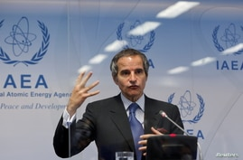 International Atomic Energy Agency (IAEA) Director General Rafael Grossi speaks at a news conference at IAEA headquarters in Vienna, Austria, June 7, 2021.