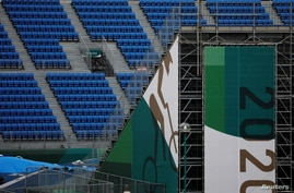 Spectator seats are seen in Ariake Urban Sports Park, a venue for Tokyo 2020 Olympic Games, in Tokyo, Japan, July 9, 2021.  …