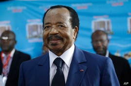 FILE - Cameroon's Incumbent President Paul Biya, of the Cameroon People's Democratic Movement Party.