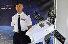 French Air Force General Philippe Lavigne attends a presentation by French ministre of Defence on the new Defence space Strategy on July 25, 2019 at the Command of Air Defence and Air Operations (Commandement de la defense aerienne et des operations…