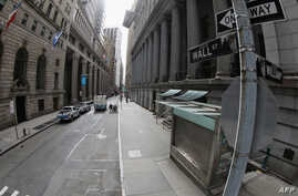 NEW YORK, NEW YORK - APRIL 02: A general view of a mostly empty Wall Street in mid-morning on April 02, 2020 in New York City…