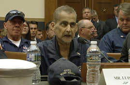 This still image taken from video shows Retired NYPD Detective and 9/11 Responder, Luis Alvarez speaks during a hearing by the House Judiciary Committee as it considers permanent authorization of the Victim Compensation Fund, on Capitol Hill in…