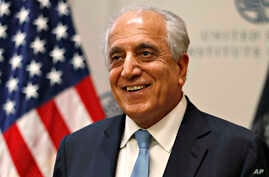FILE - In this Feb. 8, 2019, file photo, Special Representative for Afghanistan Reconciliation Zalmay Khalilzad at the U.S. Institute of Peace, in Washington.  A fresh round of talks between the U.S. and the Taliban is to begin in Qatar Saturday,…