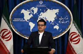 "In this May 28, 2019 photo, Iran's Foreign Ministry spokesman Abbas Mousavi speaks at a media conference in Tehran, Iran.  Iran remains open to diplomacy to save its 2015 nuclear deal with world powers but has ""no hope"" in the international…"