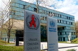 FILE - This Monday, April 8, 2019 file photo shows the headquarters of the World Health Organization in Geneva, Switzerland. On Wednesday, May 22, 2019, U.S. Reps. Katherine Clark and Hal Rogers are calling on the WHO to withdraw pain care…