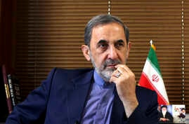 FILE - In this Aug. 18, 2013, file photo, Ali Akbar Velayati, a top adviser to Iran's supreme leader Ayatollah Ali Khamenei, gives an interview to The Associated Press at his office in Tehran, Iran. Velayathi said in a video online Saturday, July 6,…