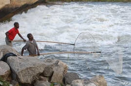 """Fisherman catch  fish using their nets in this Monday, May, 23, 2016 photo in Machinga  Malawi. Malawi which is often referred to as """" the warm  heart of Africa"""" has a cooperative way of  life which  is prominent among  villages across the country…"""