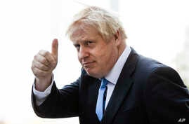 Britain's Prime Minister Boris Johnson gestures as he departs from Hudson Yards, in New York, Tuesday, Sept. 24, 2019. In a major blow to Johnson, Britain's highest court ruled Tuesday that his decision to suspend Parliament for five weeks in the…