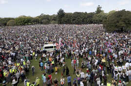 """Thousands of protestors, many of them school students, gather in Sydney, Friday, Sept. 20, 2019, calling for action to guard against climate change. Australia's acting Prime Minister Michael McCormack has described ongoing climate rallies as """"just a…"""