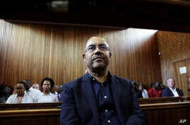 FILE -- In this Tuesday Jan. 8, 2019 file photo former Mozambican finance minister, Manuel Chang, appears in court in Kempton…