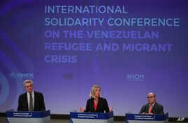 European Union Foreign Policy chief Federica Mogherini at Venezuela Solidarity conference