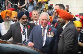 Britain's Prince Charles in India
