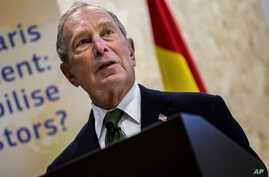 Democratic presidential contender Michael Bloomberg