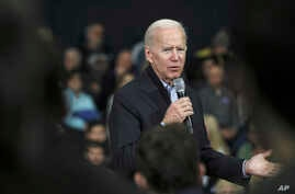 Democratic presidential candidate and former Vice President Joe Biden speaks at a campaign event in Nashua, N.H. Sunday, Dec. 8…
