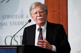 Former National security adviser John Bolton speaking at the Center for Strategic and International Studies in Washington,…