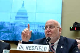 Centers for Disease Control and Prevention Director Robert Redfield testifies before the House Commerce subcommittee on Capitol…