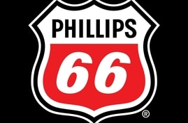 PHILLIPS 66 logo, graphic element on black