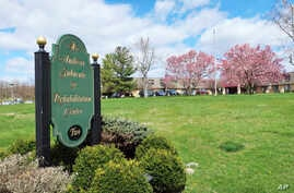 This Thursday, April 16, 2020 photo shows the Andover Subacute and Rehabilitation Center in Andover, N.J. Police responding to…
