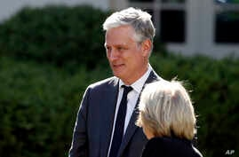 White House national security adviser Robert O'Brien attends a White House National Day of Prayer Service in the Rose Garden of…