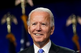 Democratic presidential candidate former Vice President Joe Biden speaks during the fourth day of the Democratic National…