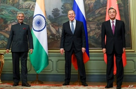 ICAPTION CORRECTS DATE In this photo released by the Russian Foreign Ministry Press Service, India's Foreign Minister S…