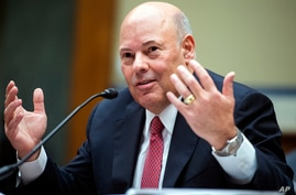 FILE - In this Aug. 24, 2020, file photo, Postmaster General Louis DeJoy testifies during a House Oversight and Reform…