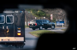 A motorcade with President-elect Joe Biden aboard arrives at Delaware Orthopaedic Specialists to see a doctor, Sunday, Nov. 29,…
