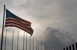 U.S. flag flies at the U.S. embassy in Havana, Cuba, Monday, March 18, 2019. The U.S. State Department said Friday, March, 15,…