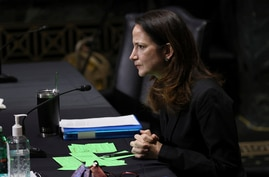 President-elect Joe Biden's pick for national intelligence director Avril Haines speaks during a confirmation hearing before…