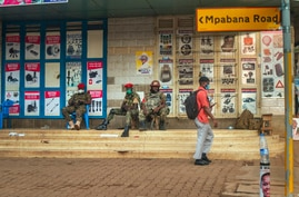 Security forces patrol the streets near opposition leader Bobi Wine headquarters in Kampala, Uganda Wednesday, Jan. 13, 2021…
