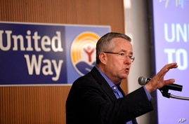 IMAGE DISTRIBUTED FOR UNITED WAY WORLDWIDE - Brian A. Gallagher, president and CEO of United Way Worldwide, speaks at the…