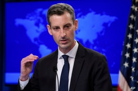 State Department spokesperson Ned Price speaks during a press briefing at the State Department in Washington, Tuesday, Feb. 2,…