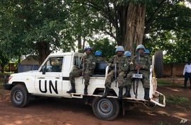United Nations Peacekeepers in Yei, South Sudan,  July 13, 2017. The United Nations says it is considering putting a…
