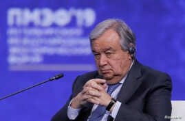 FILE - U.N. Secretary General Antonio Guterres.