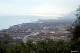 FILE PHOTO: A view shows Hadibu city on the capital island of Socotra
