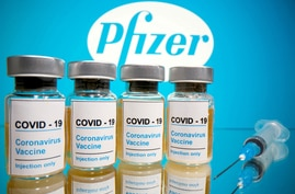 FILE PHOTO: Pfizer vaccine photo illustration