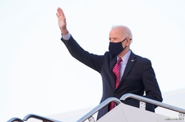 U.S. President Biden departs Washington for weekend travel to Delaware at Joint Base Andrews in Maryland