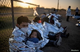 Asylum-seeking migrants in La Joya Texas