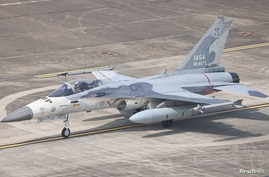 FILE PHOTO: A F-CK-1 Ching-kuo Indigenous Defence Fighter (IDF) is seen at an Air Force base in Tainan