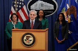 U.S. Attorney General Merrick Garland announces that the Justice Department will file a lawsuit challenging a Georgia election law, in Washington