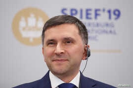 Russian Minister of Natural Resources and EnvironmentDmitryKobylkin attends a session of the St. Petersburg International Economic Forum (SPIEF), Russia June 6, 2019.REUTERS/MaximShemetov