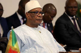 Mali's President Ibrahim Boubacar Keita attends the summit of the Heads of state from the eight-nation West African Economic…
