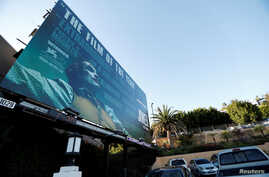 "FILE PHOTO: A billboard advertising the film ""Joker"" is pictured in Los Angeles, California, U.S., October 2, 2019. REUTERS…"