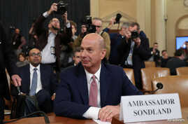 U.S. Ambassador to the European Union Gordon Sondland attends a House Intelligence Committee hearing as part of the impeachment…