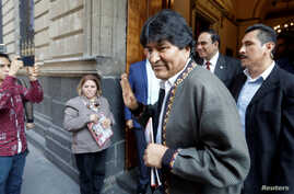 Bolivia's former President Evo Morales gestures after a news conference, in Mexico City, Mexico November 27, 2019. REUTERS/Luis…