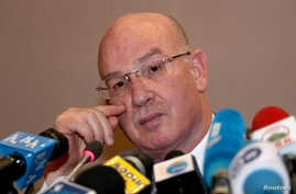 Smail Chergui, African Union (AU) Commissioner for Peace and Security attends a news conference during the African Union Summit…