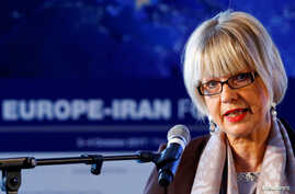 Helga Schmid, Secretary General of the European External Action Service (EEAS), addresses the 4th Europe-Iran Forum in Zurich,…