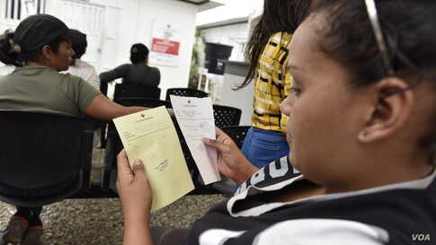Las Margaritas health center is located just around the corner from the Colombia-Venezuela Border. Every day, the staff take care of 100 to 120 children. (Photo: Diego Huertas / VOA Spanish)